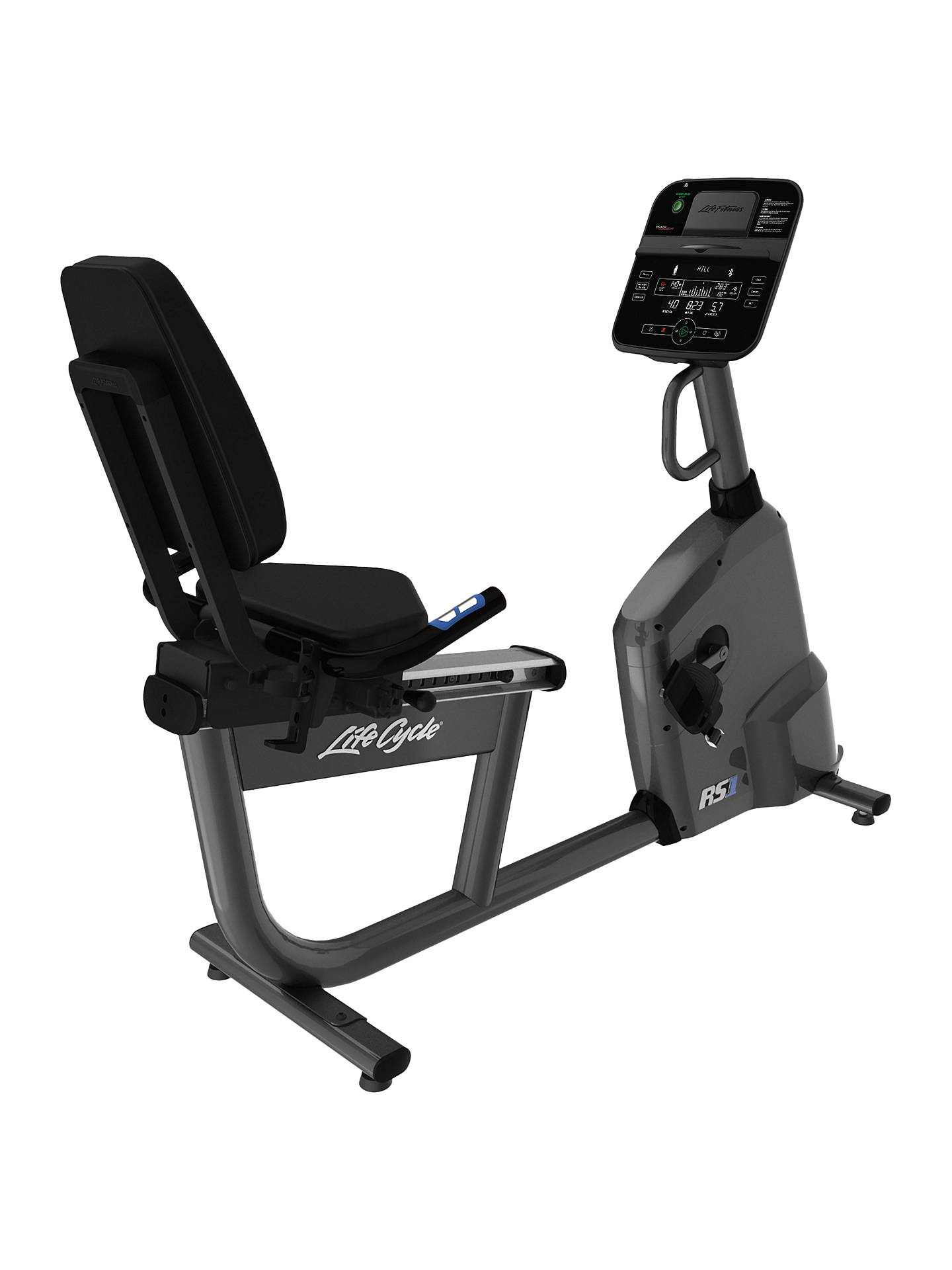 BuyLife Fitness RS1 Lifecycle Recumbent Exercise Bike with Track Connect Console Online at johnlewis.com