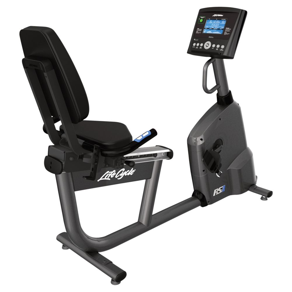 Life Fitness Life Fitness RS1 Lifecycle Recumbent Exercise Bike, Go Console