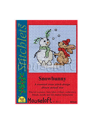 Snowbunny Stitchlet With card /& Envelope by Mouseloft