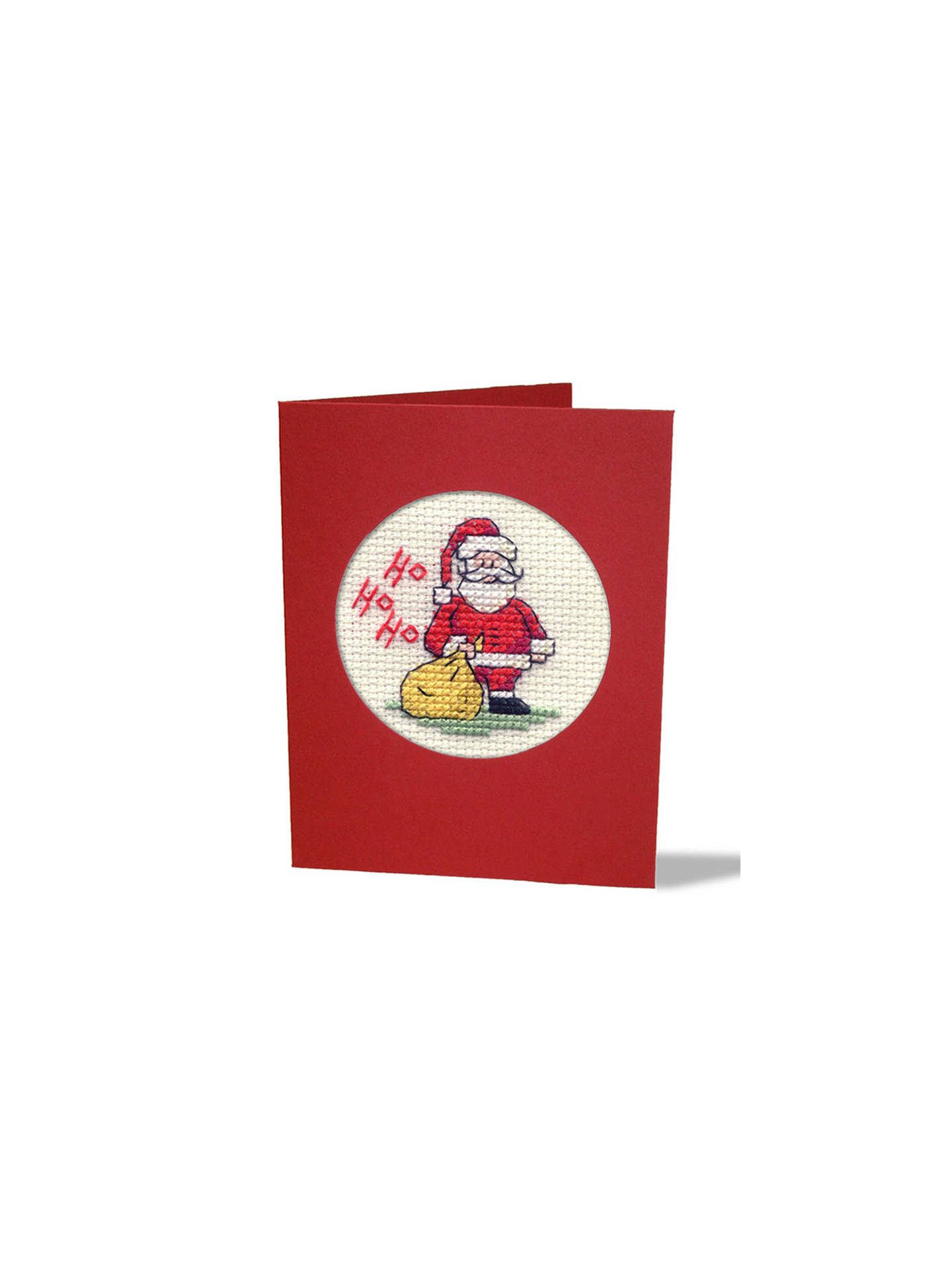 Buy Mouseloft Ho Ho Ho Santa Card And Envelope Cross Stitch Kit Online at johnlewis.com