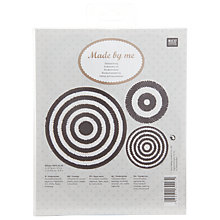 Buy Rico Round Coaster Kit, Pack of 3, Black/White Online at johnlewis.com