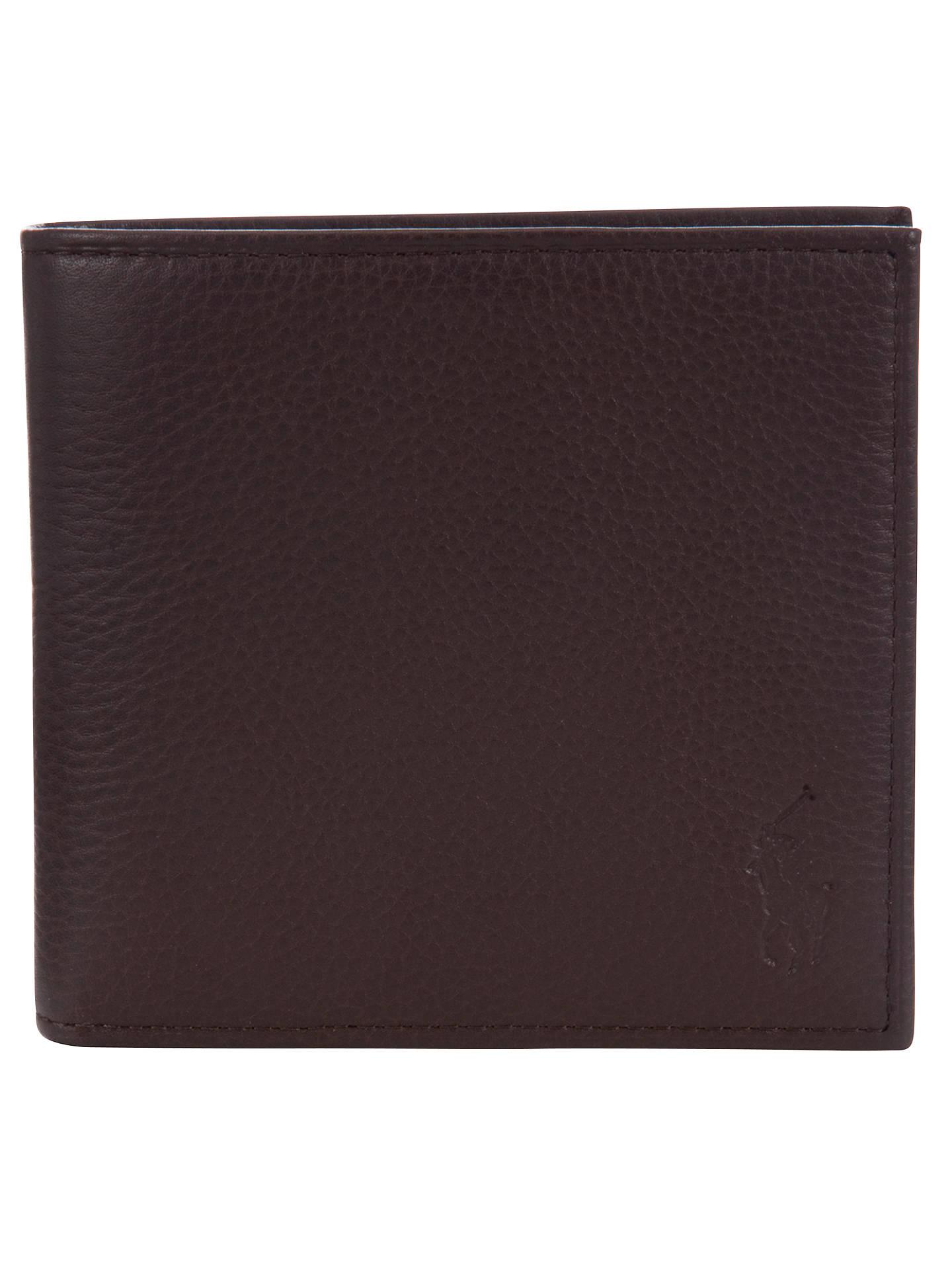 f92b3de0f6ab Buy Polo Ralph Lauren Pebble Leather Wallet, Brown Online at johnlewis.com  ...