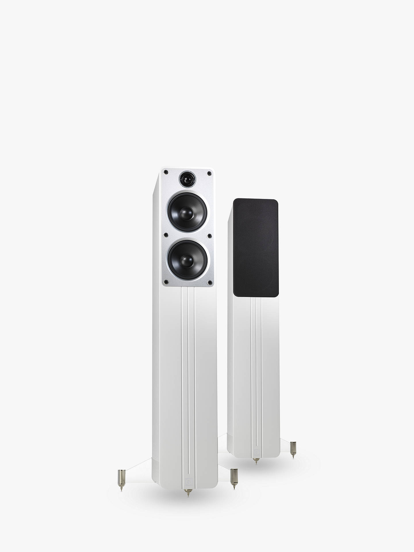 BuyQ Acoustics Concept 40 Floor Standing Speakers, Gloss White Online at johnlewis.com