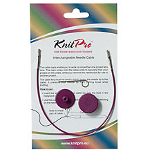 Buy Knit Pro Single Cable Interchangeable Needle Cable, 20cm, Purple Online at johnlewis.com