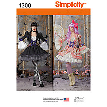 Buy Simplicity Women's Costumes Sewing Patterns, 1300 Online at johnlewis.com