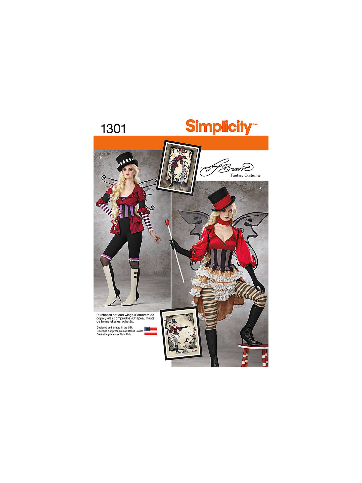 Simplicity Women\'s Victorian Circus Costumes Sewing Patterns, 1301 ...