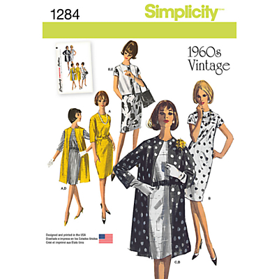 1960s Sewing Patterns- Dresses, Tops, Pants etc Simplicity Vintage Womens Outfits Sewing Patterns 1284 £8.95 AT vintagedancer.com