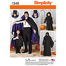 Buy Simplicity Men's & Boys' Costume Capes Sewing Patterns, 1349 Online at johnlewis.com
