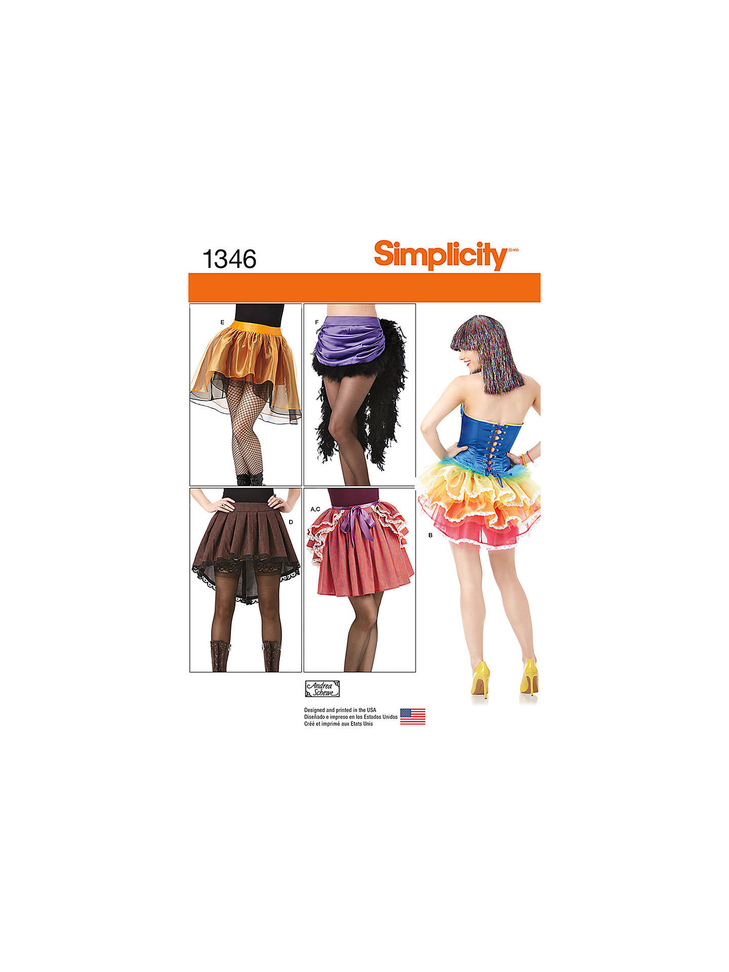 Simplicity Women\'s Costume Skirts & Bustles Sewing Patterns, 1346 at ...