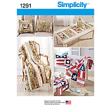 Buy Simplicity Home Accessories Sewing Patterns, 1291 Online at johnlewis.com