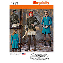 Buy Simplicity Women's Costume Coat, Jacket & Skirt Sewing Pattern, 1299 Online at johnlewis.com