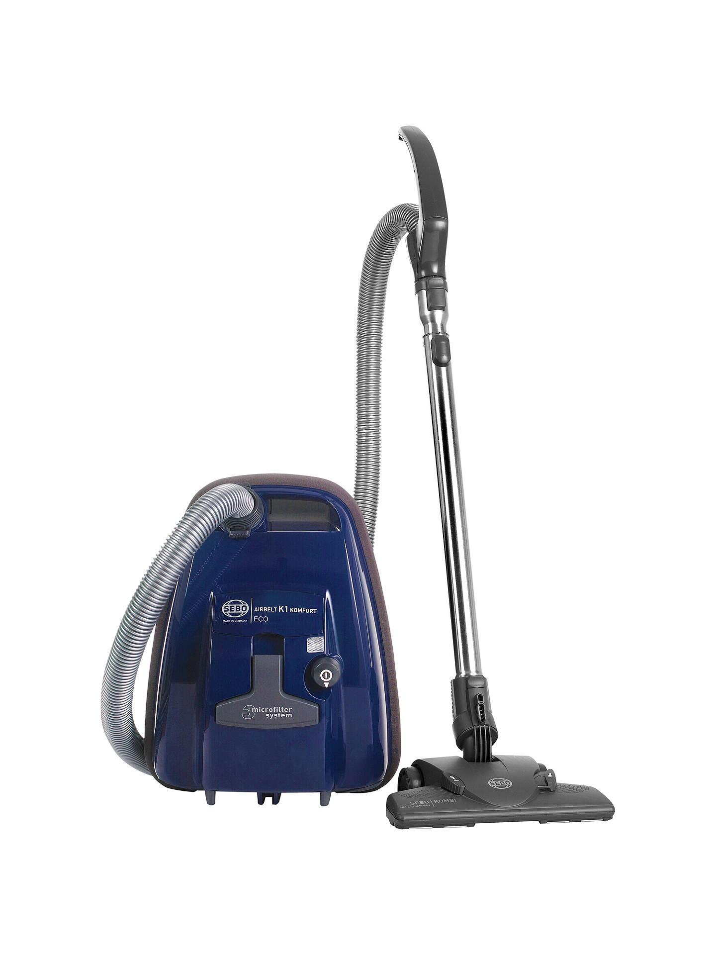 sebo k1 komfort eco cylinder vacuum cleaner blue at john. Black Bedroom Furniture Sets. Home Design Ideas