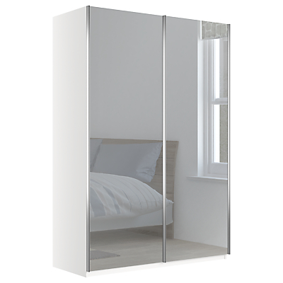 John Lewis Elstra 150cm Wardrobe with Mirrored Sliding Doors