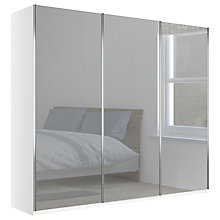 Buy John Lewis Elstra 250cm Wardrobe with Mirrored Sliding Doors Online at johnlewis.com