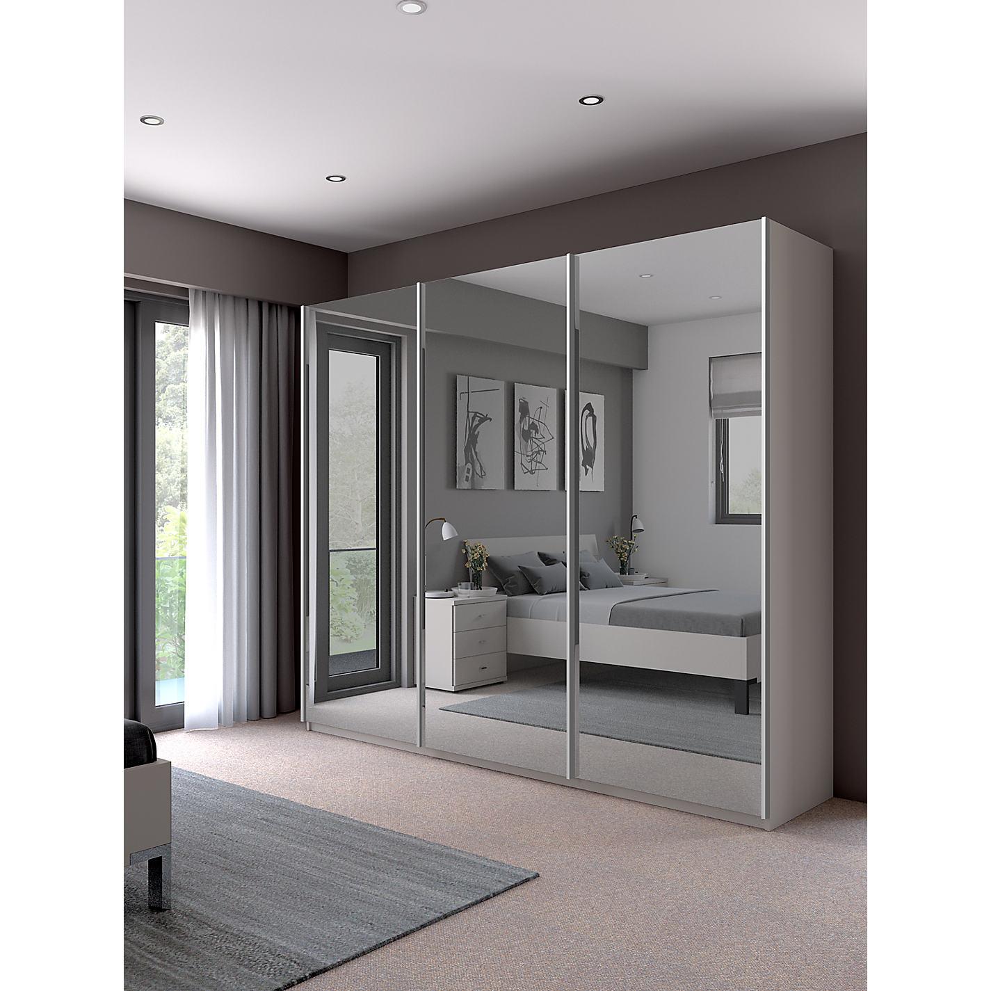 Buy john lewis elstra 250cm wardrobe with mirrored sliding doors buy john lewis elstra 250cm wardrobe with mirrored sliding doors online at johnlewis vtopaller Gallery