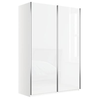 John Lewis & Partners Elstra 150cm Wardrobe with Glass Sliding Doors