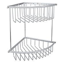 buy john lewis large brass 2 tier corner shower basket online at