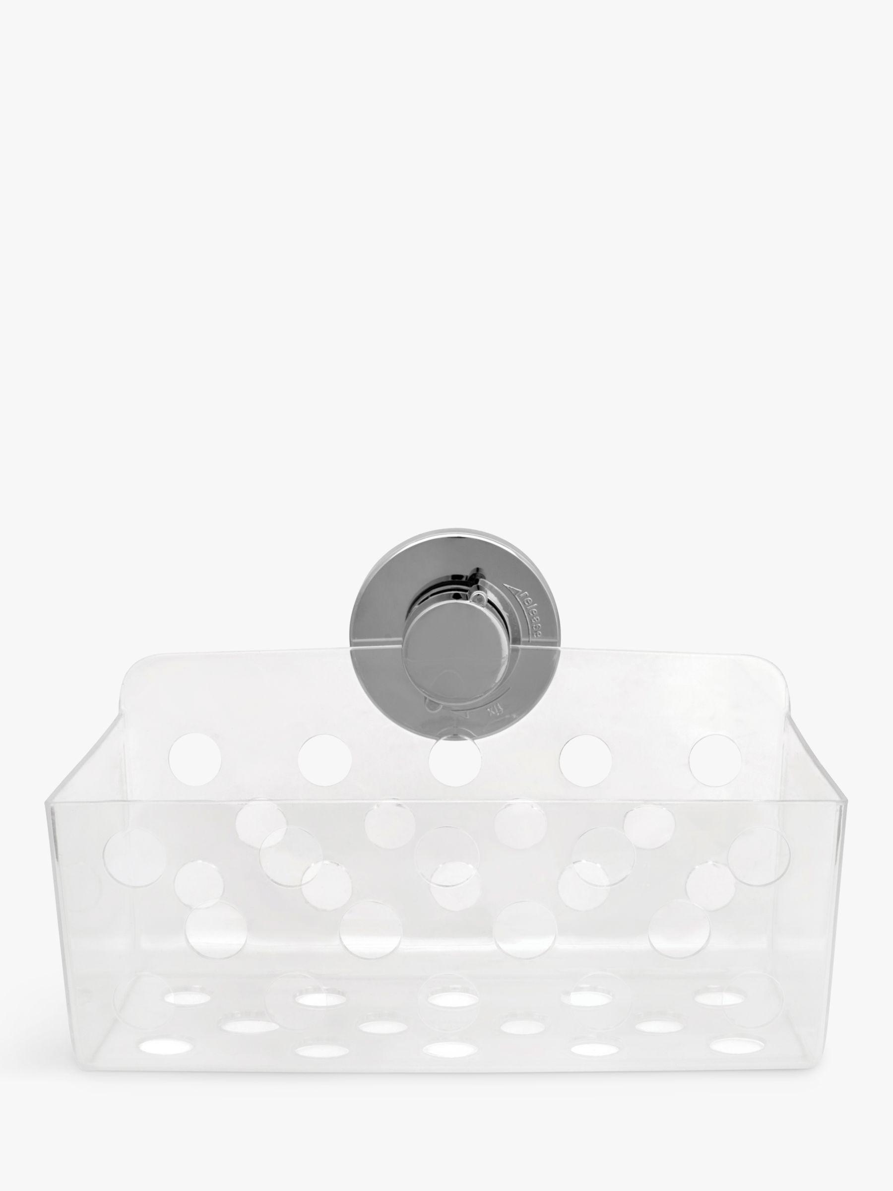 Bliss Bliss Lock N Roll Rectangular Bathroom Suction Basket