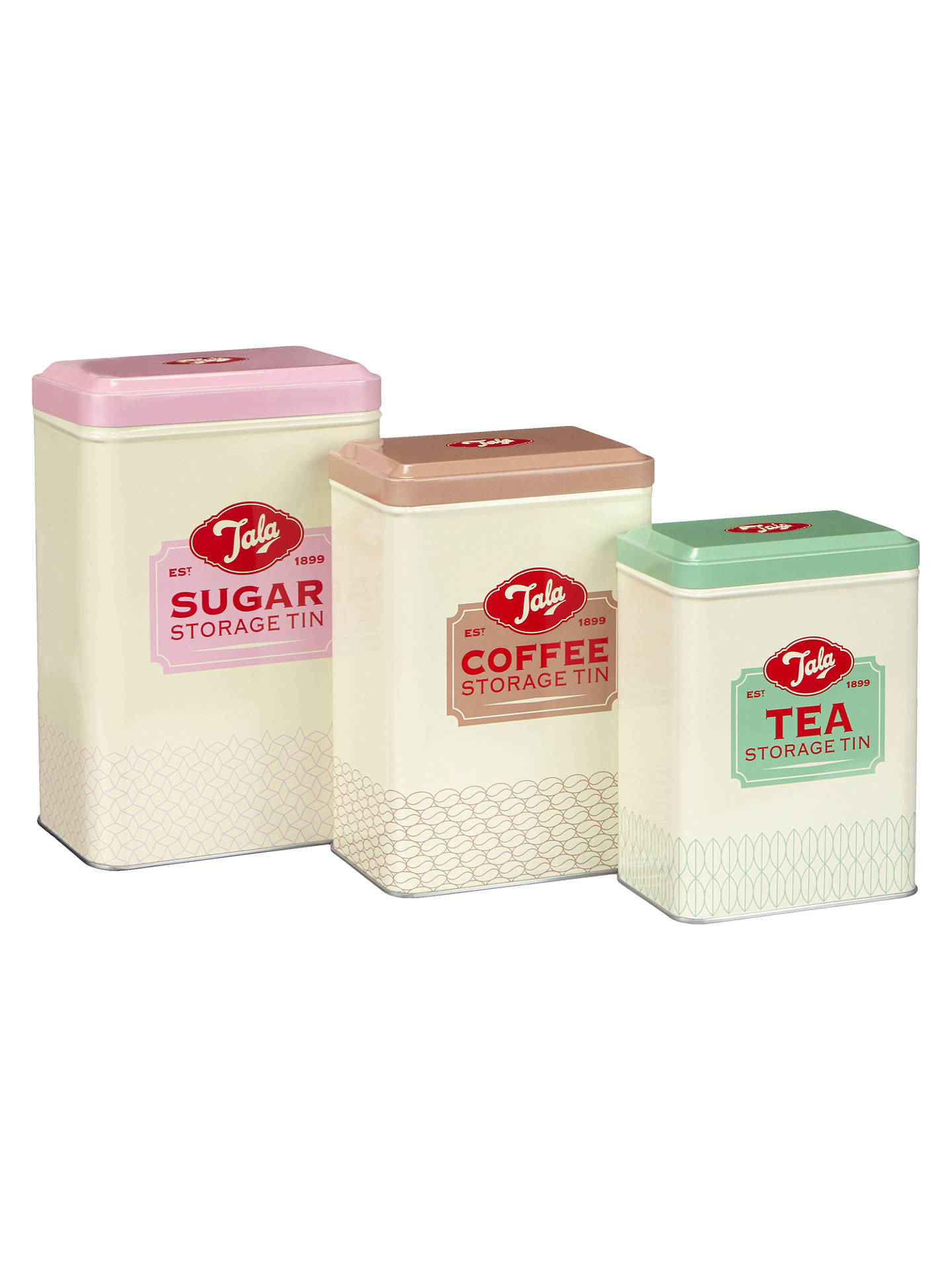 Tala Tea Coffee Sugar Nested Storage Canisters Set Of 3