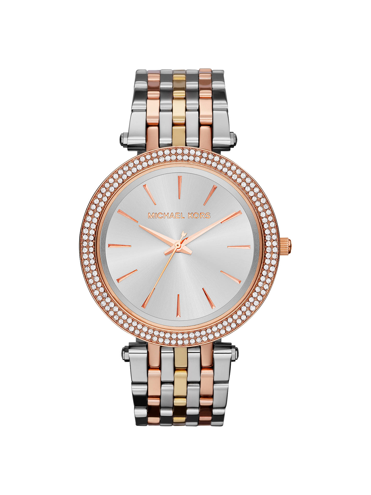 Buy Michael Kors MK3203 Women's Darci Tri Tone Bracelet Strap Watch, Multi Online at johnlewis.com