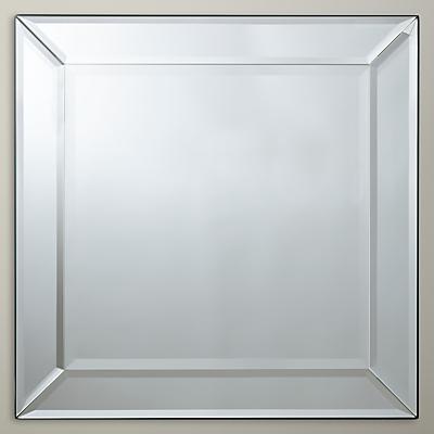 John Lewis Bevel Simple Mirror, 50 x 50cm, Clear