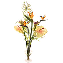Buy Peony Artificial Tropical Flower Mix in Goblet Vase Online at johnlewis.com