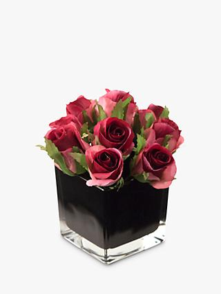 4927a35aeab1 Peony Artificial Roses in Black Cube