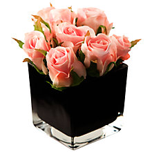 Buy Peony Artificial Roses in Black Cube Online at johnlewis.com