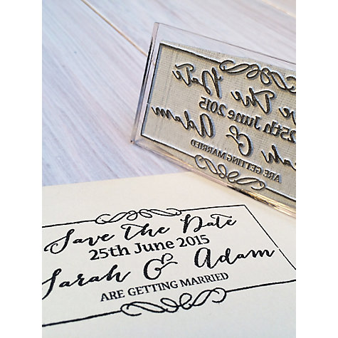 Stompstamps Personalised Save The Date Stamp Online At Johnlewis