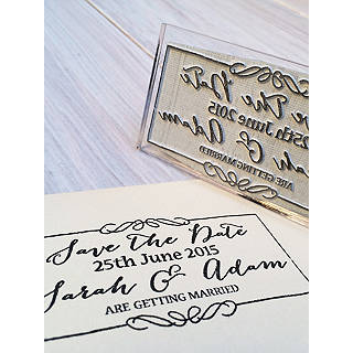 Stompstamps Personalised Save The Date Stamp