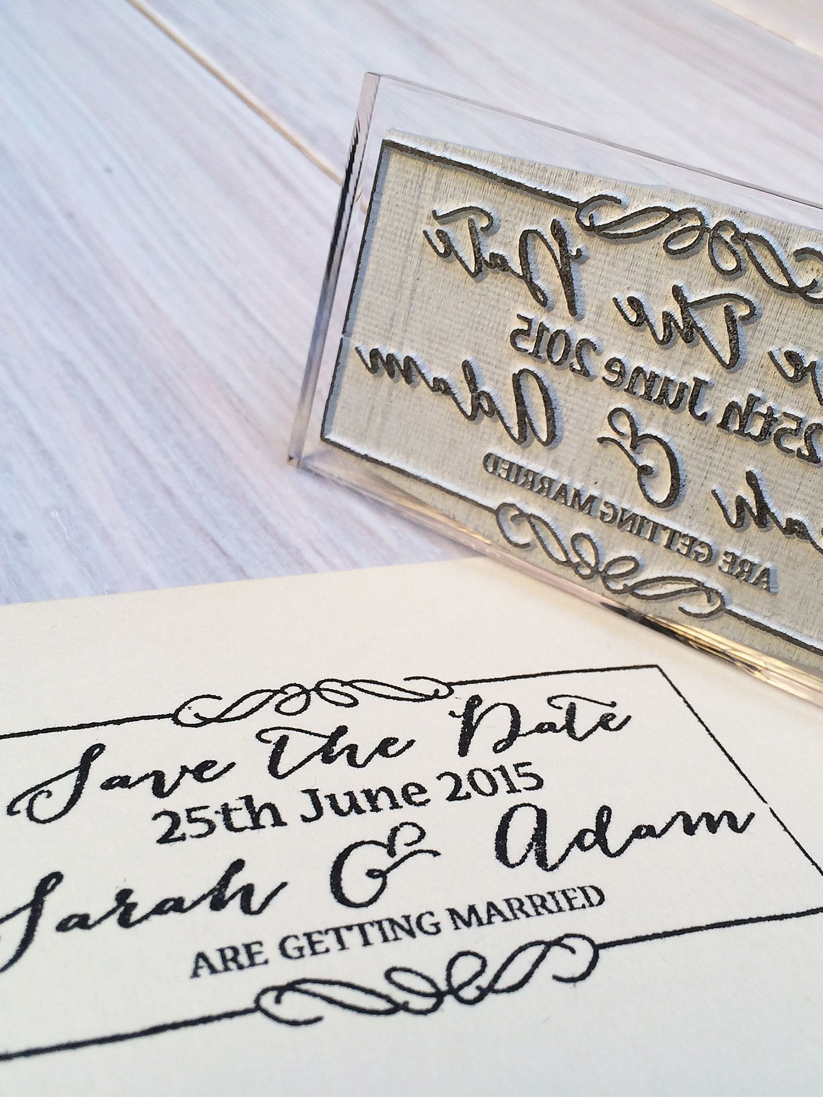 StompStamps StompStamps Personalised Save The Date Stamp