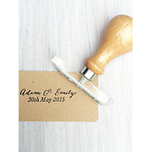 Buy StompStamps Personalised Wedding Favour Names Stamp Online at johnlewis.com