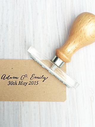 StompStamps Personalised Wedding Favour Names Stamp