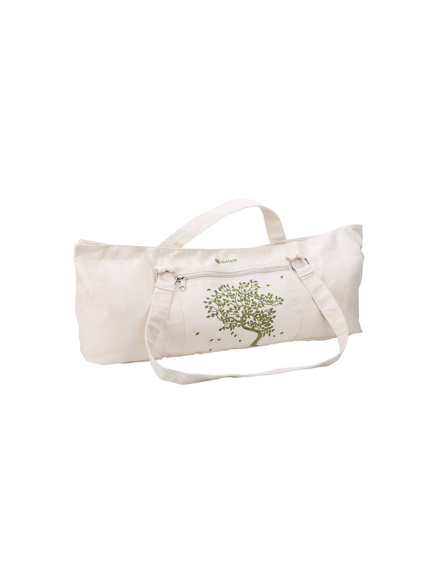 Gaiam Tree Of Life Canvas Mat Bag Natural Cream At John