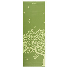 Buy Gaiam Tree of Life Printed 4mm Yoga Mat, Green Online at johnlewis.com