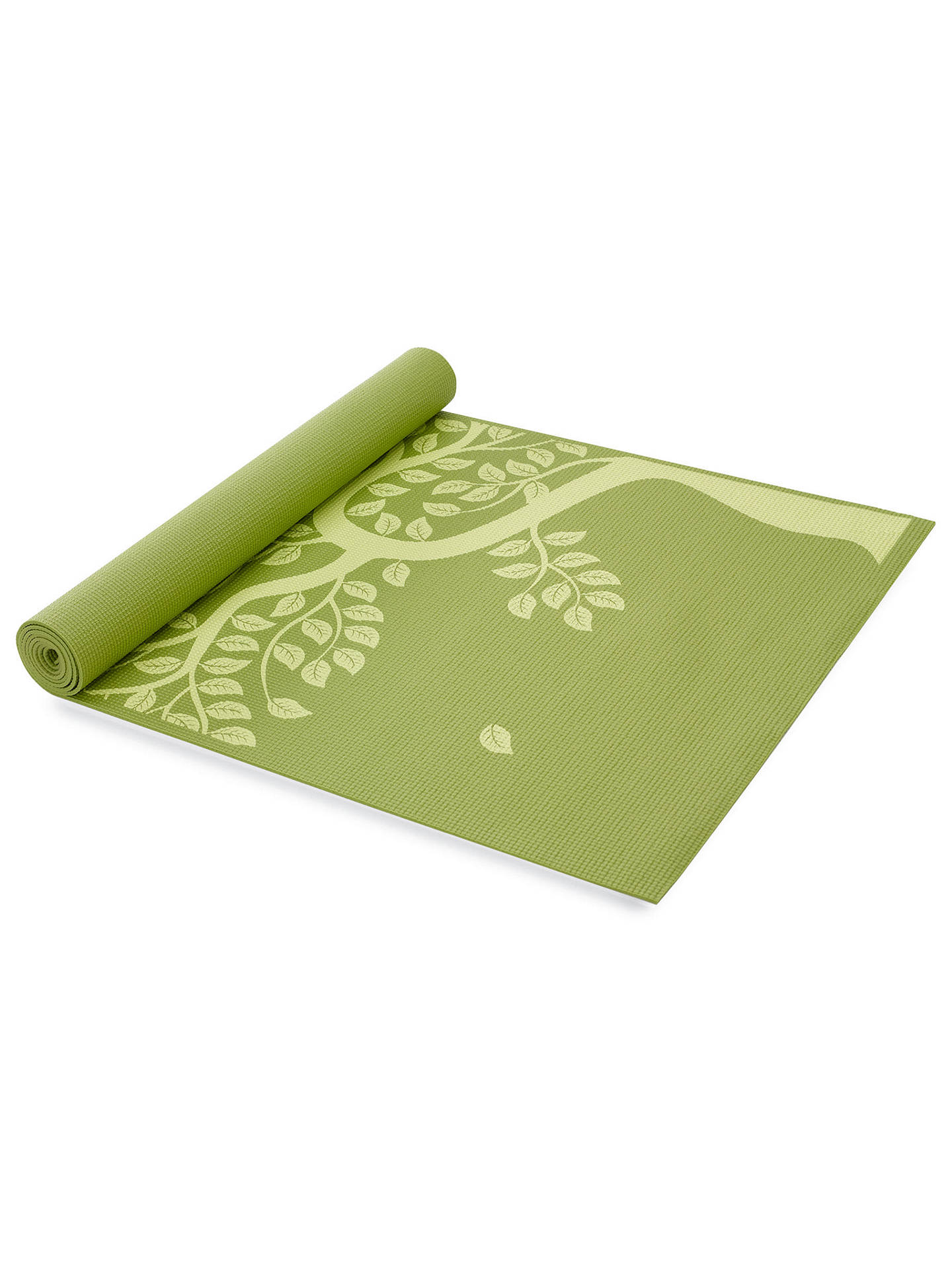 Buy Gaiam Tree of Life Printed 3mm Yoga Mat, Green Online at johnlewis.com