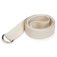 "Buy Gaiam 6"" Cotton Yoga Strap, Cream Online at johnlewis.com"