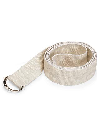 "Gaiam 6"" Cotton Yoga Strap, Cream"