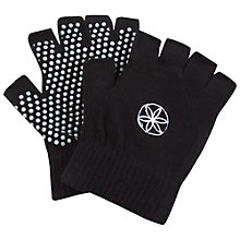 Buy Gaiam Super Grippy Yoga Gloves, One Size, Black/Pink Online at johnlewis.com