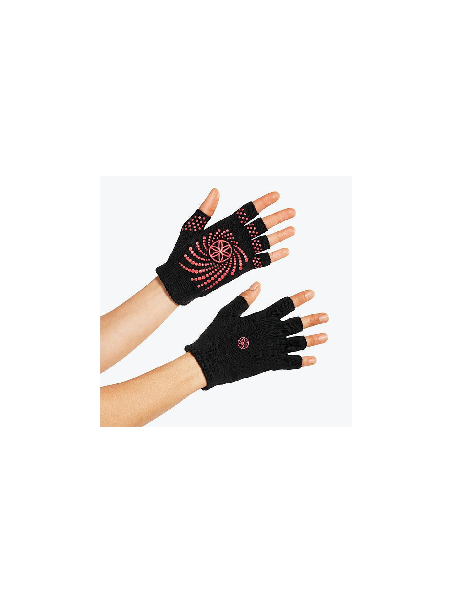 Gaiam Super Grippy Yoga Gloves One Size Black Pink At