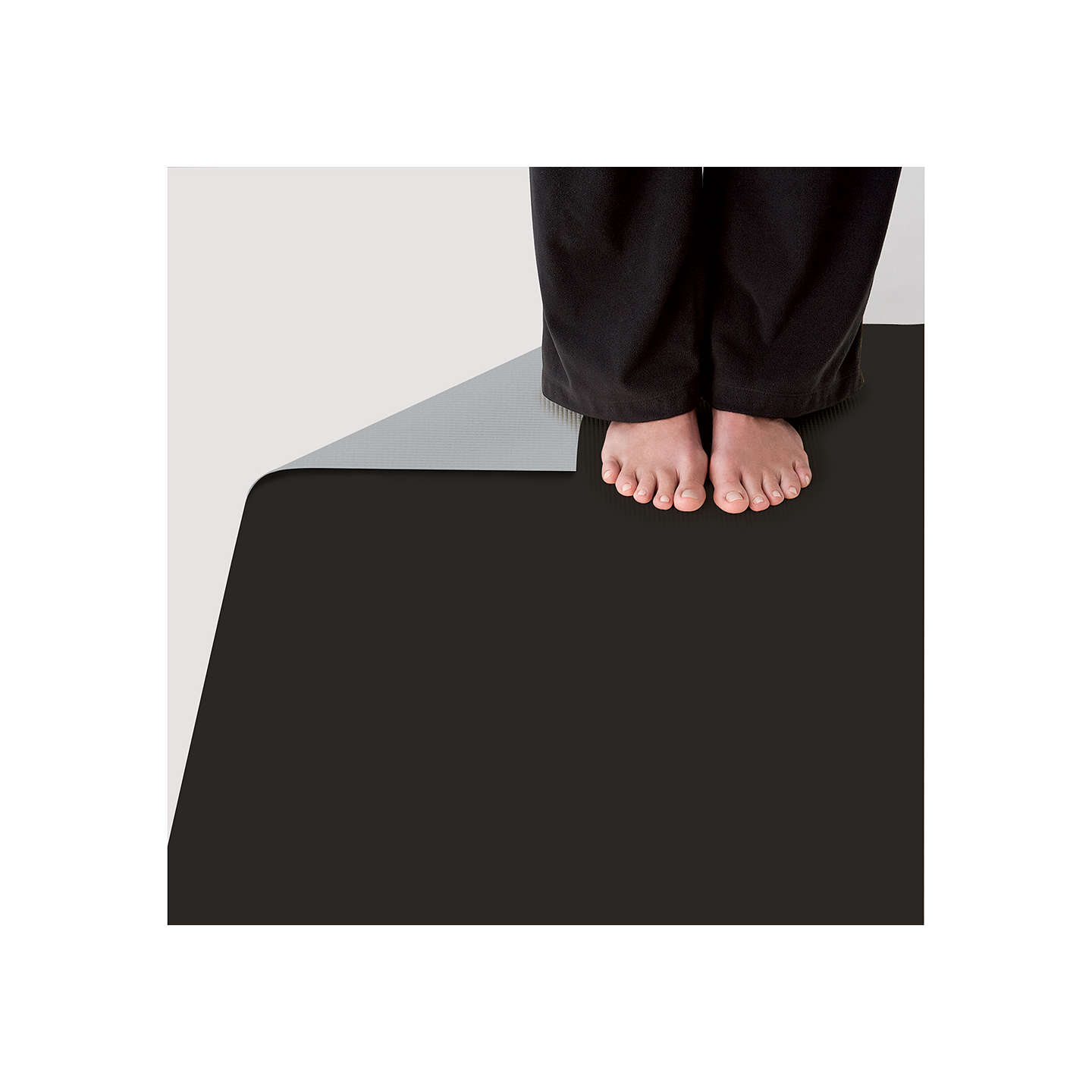 Gaiam Premium 5mm Yoga Mat, Black At John Lewis