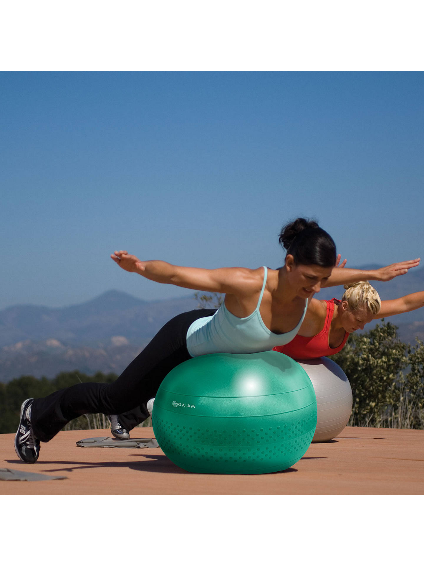 BuyGaiam 65cm Total Body Balance Ball Kit, Green Online at johnlewis.com