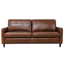 Buy John Lewis Dalston Leather Large 3 Seater Sofa, Earth Bronx Online at johnlewis.com