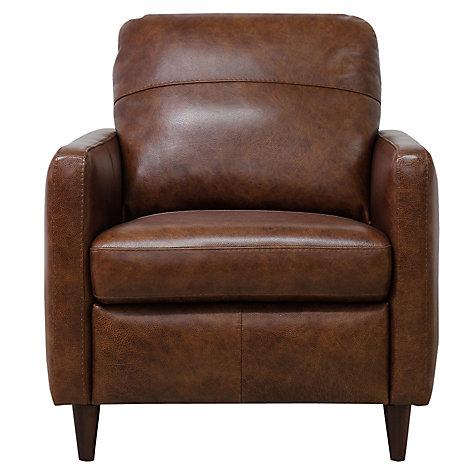 Buy John Lewis Dalston Leather Armchair Earth Bronx John Lewis