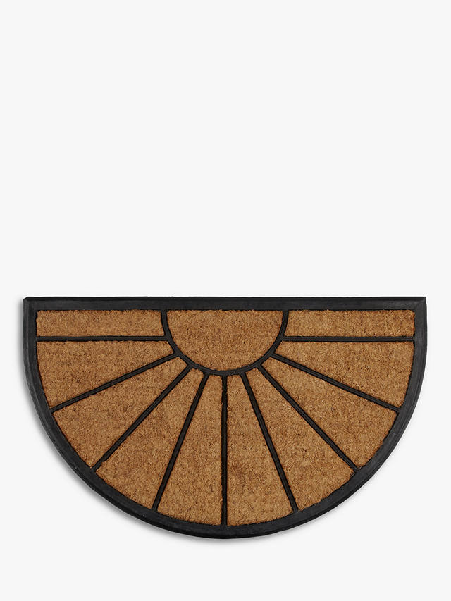 Buy John Lewis & Partners Sunburst Rubber and Coir Door Mat Rug Online at johnlewis.com