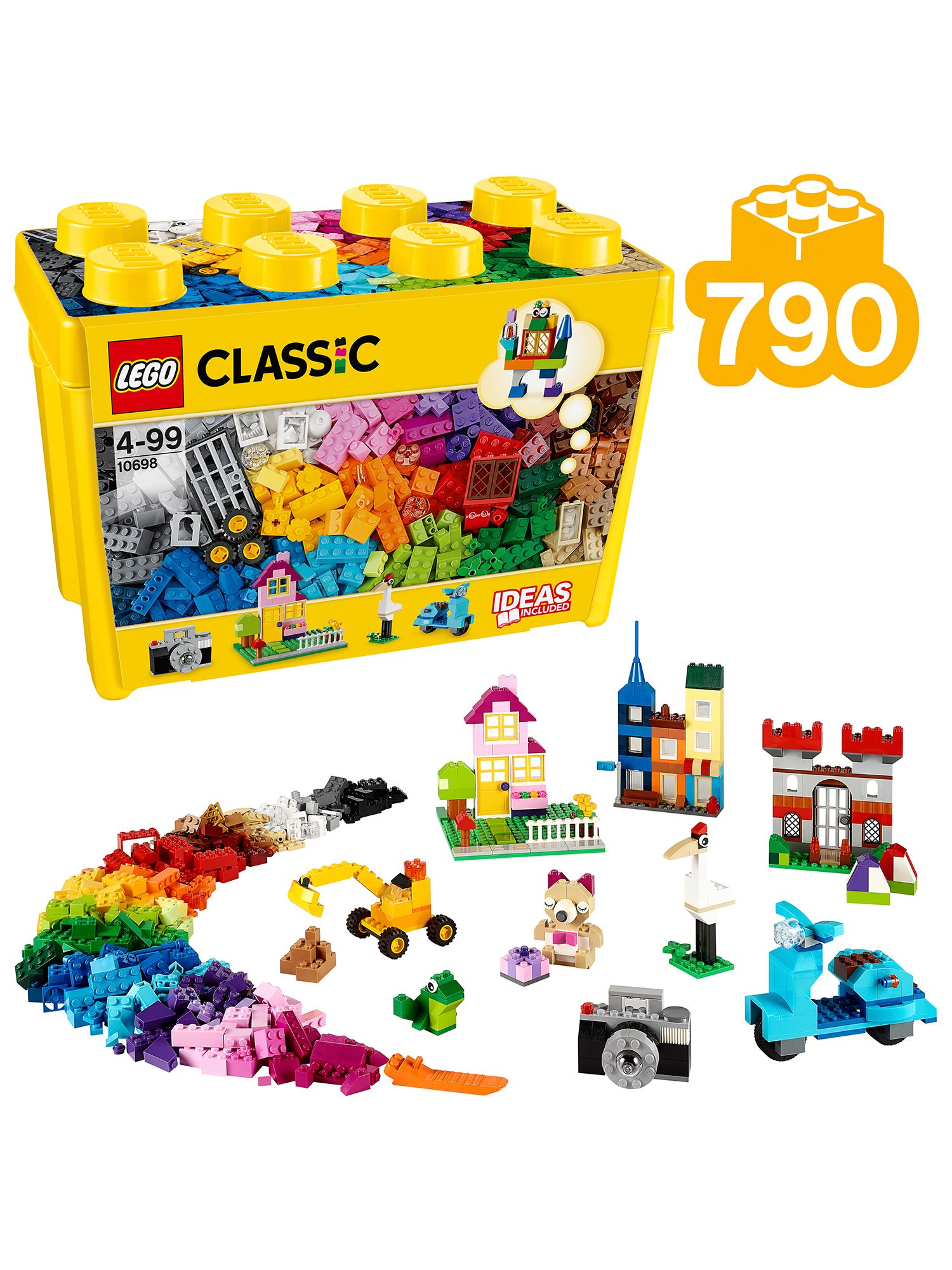 Buy LEGO Classic 10698 Large Creative Brick Box Online at johnlewis.com