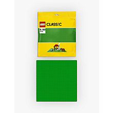 Buy LEGO Classic 10700 Baseplate, Green Online at johnlewis.com