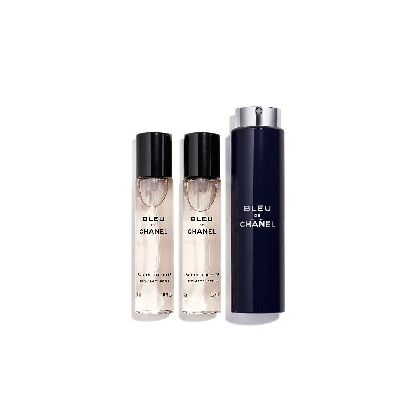 BuyCHANEL BLEU DE CHANEL Refillable Travel Spray 3 x 20ml Online at johnlewis.com