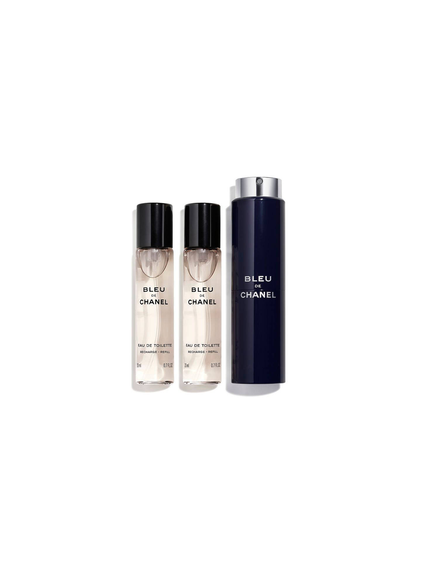 ea0a7f44145b5 Buy CHANEL BLEU DE CHANEL Refillable Travel Spray 3 x 20ml Online at  johnlewis.com