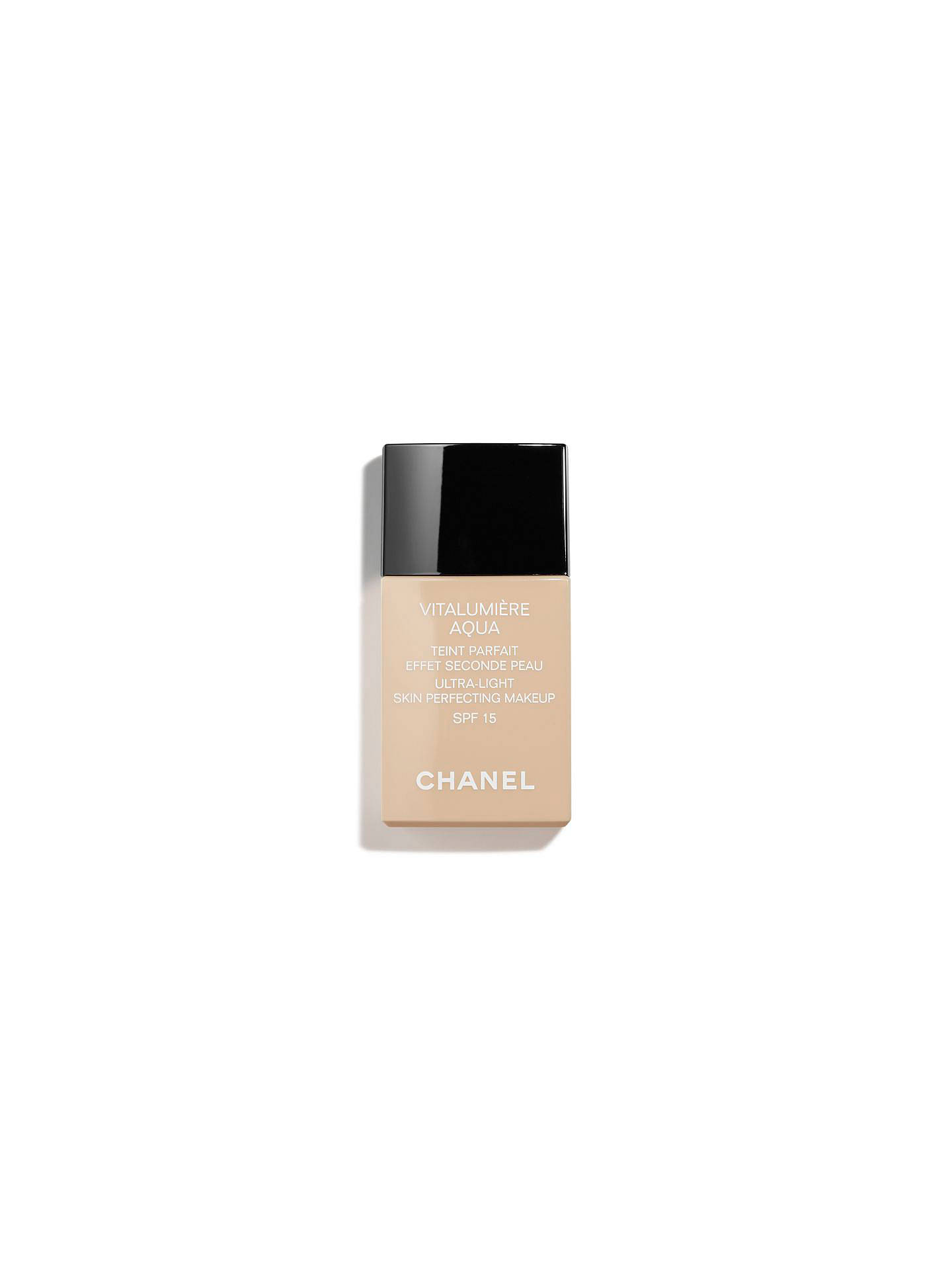BuyCHANEL VITALUMIÈRE AQUA Ultra-Light Skin Perfecting Makeup SPF 15, 10 Beige Online at johnlewis.com